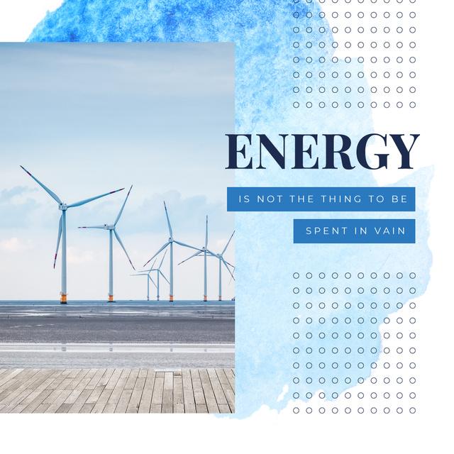 Wind turbines farm Instagram Modelo de Design