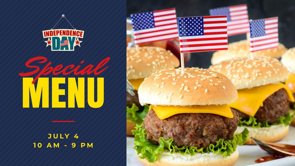 Independence Day Menu with Burgers —デザインを作成する