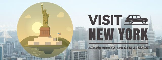 Plantilla de diseño de New York city Facebook Video cover