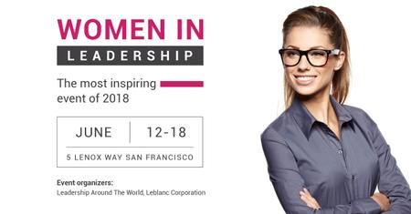 Women in Leadership event Facebook AD Modelo de Design
