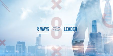 Plantilla de diseño de 8 ways to be a true leader Image
