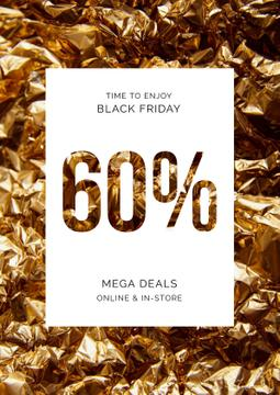 Black Friday deal on golden foil
