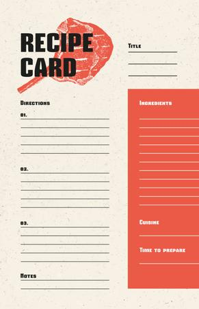Template di design Piece of Meat illustration Recipe Card