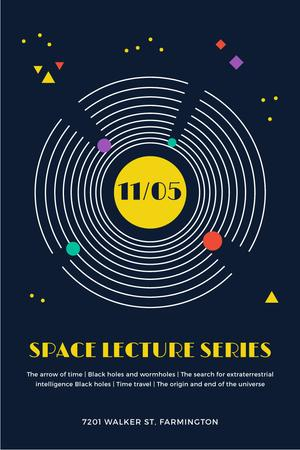Template di design Event Announcement with Space Objects System Pinterest