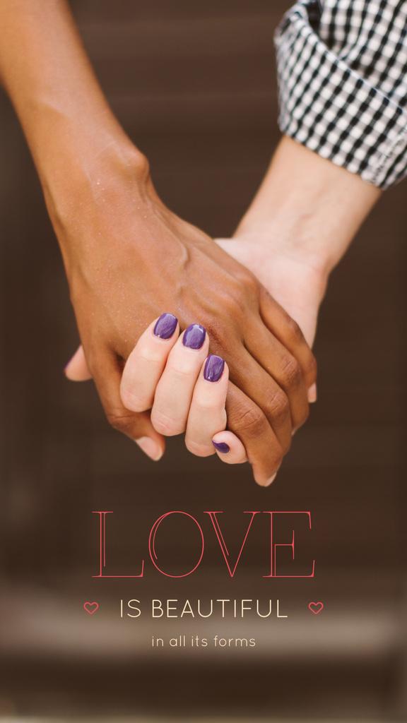 Loving couple holding hands — ein Design erstellen