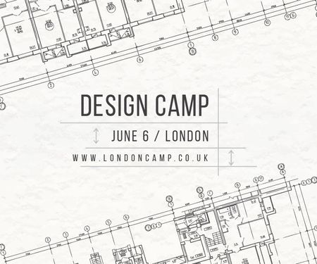 Plantilla de diseño de Design camp in London Large Rectangle