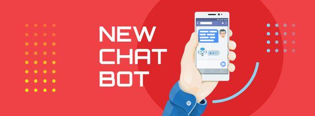 Modèle de visuel Online Chat on Phone Screen - Facebook cover
