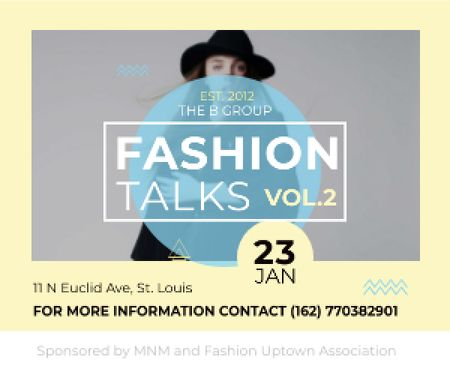 Fashion talks poster Medium Rectangle Design Template