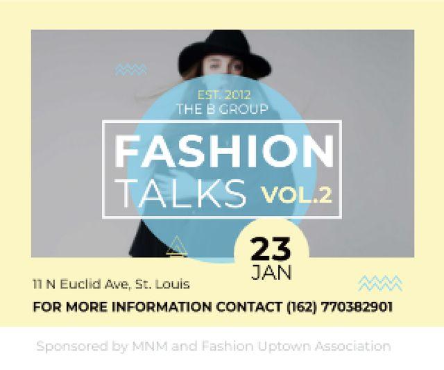 Fashion talks poster Medium Rectangle Modelo de Design