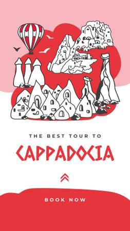 Template di design Cappadocia travelling spots Instagram Story