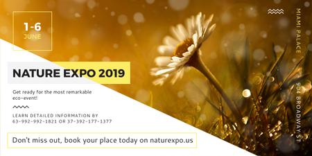 Nature Expo Annoucement with beautiful Flower Facebook AD Modelo de Design