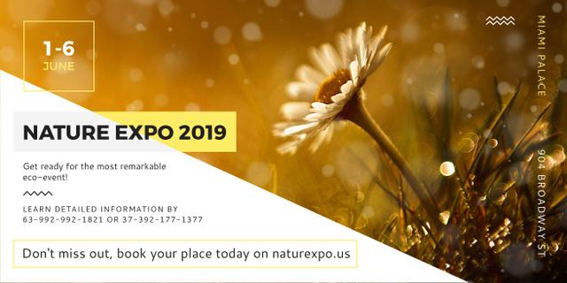 Nature Expo Annoucement with beautiful Flower Facebook AD Modelo de Design