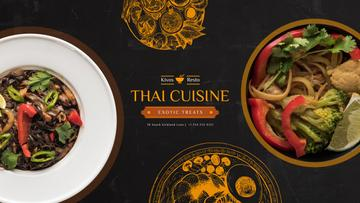 Thai Cuisine Meal | Youtube Channel Art