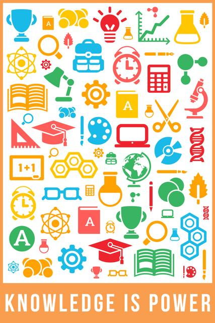 Plantilla de diseño de Knowledge is power Pinterest