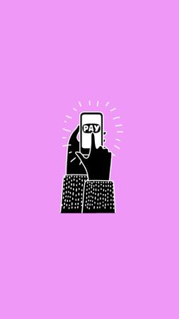 Modèle de visuel M-commerce services and technology icons - Instagram Highlight Cover