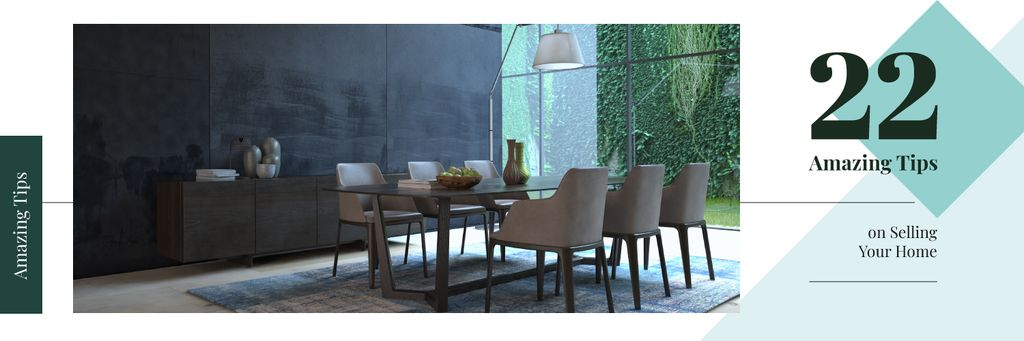 Stylish dining room interior — Створити дизайн