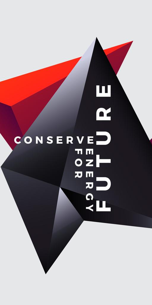 Concept of Conserve energy for future  — Crea un design