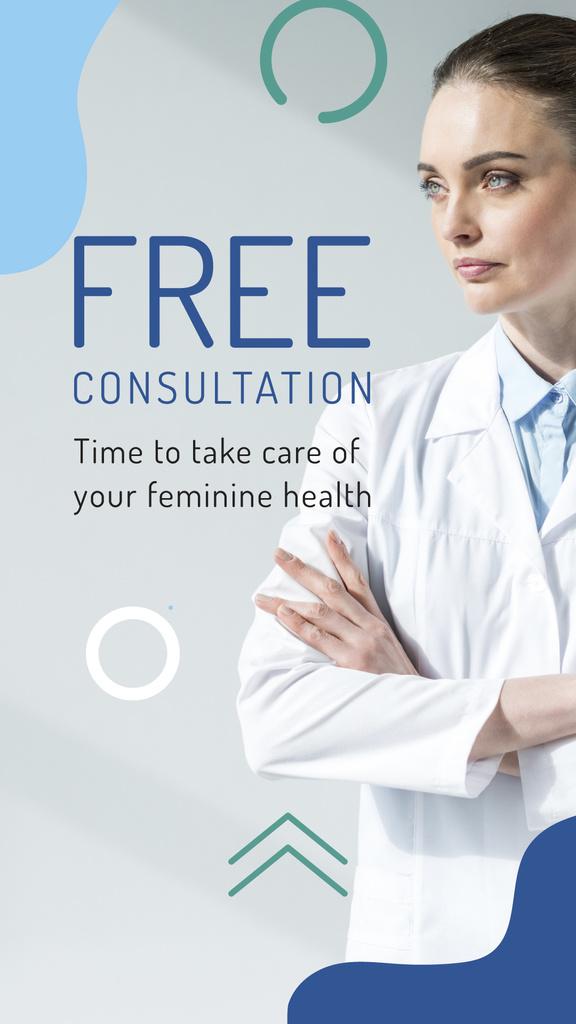 Female Health Clinic Doctor — Créer un visuel