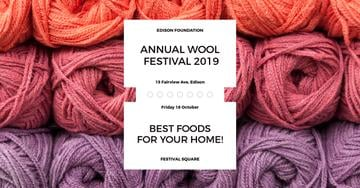 Annual wool festival with colorful threads