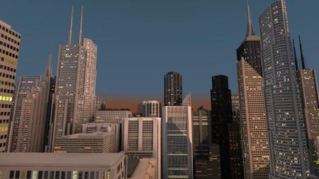Designvorlage Night City Skyscraper lights für Zoom Background