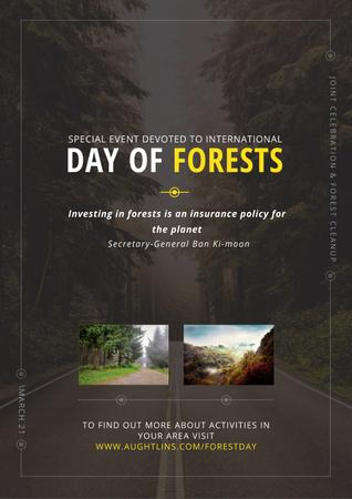 Template di design Special Event devoted to International Day of Forests Poster