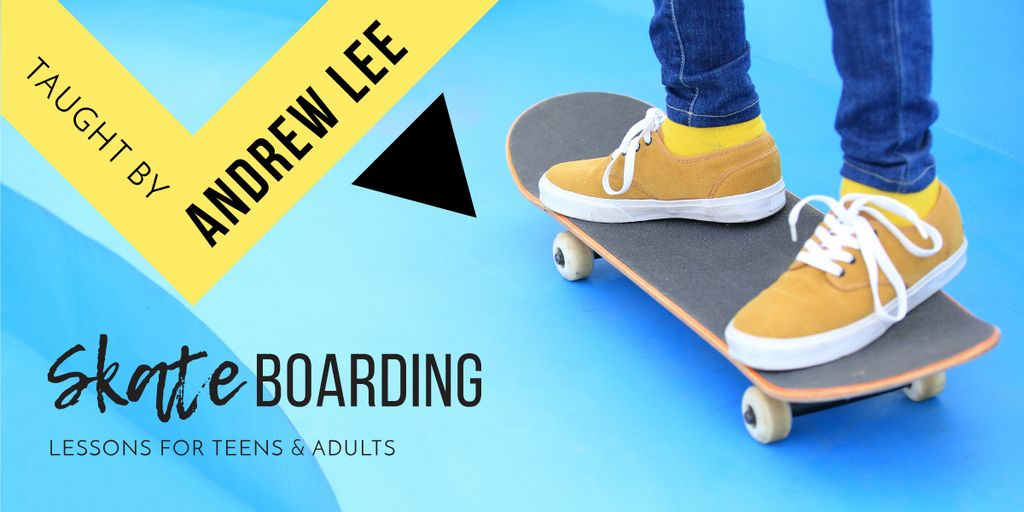 Man riding skateboard — Create a Design