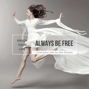 Inspiration Quote Woman Dancer Jumping