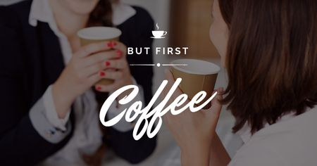 Template di design People in Coffee house Facebook AD