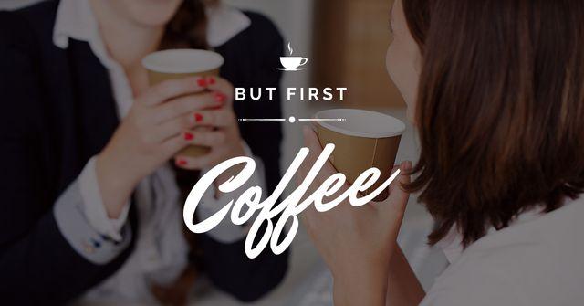 Plantilla de diseño de People in Coffee house Facebook AD