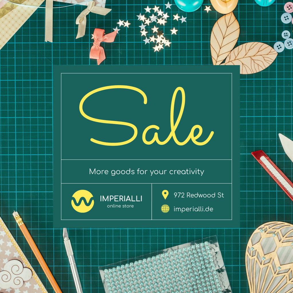 Creative Handmade Supplies Ad — ein Design erstellen