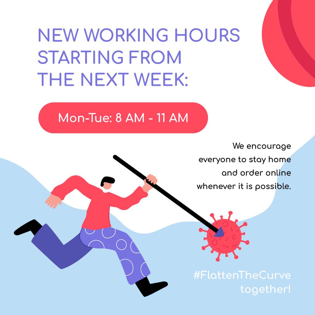 Working Hours Rescheduling with man beating Virus — Modelo de projeto