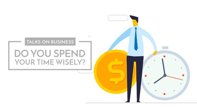 Businessman valuing his time Full HD video – шаблон для дизайна