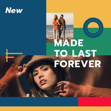 Fashion Collection ad with Young Women at coast