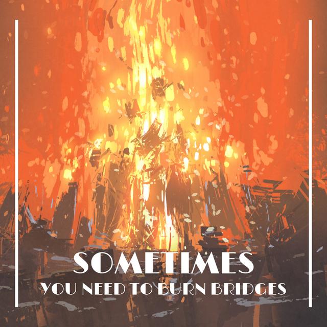 Szablon projektu Burning camp fire Animated Post