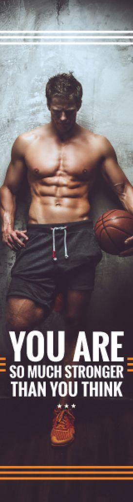 Sport center poster with basketball player  — Crea un design