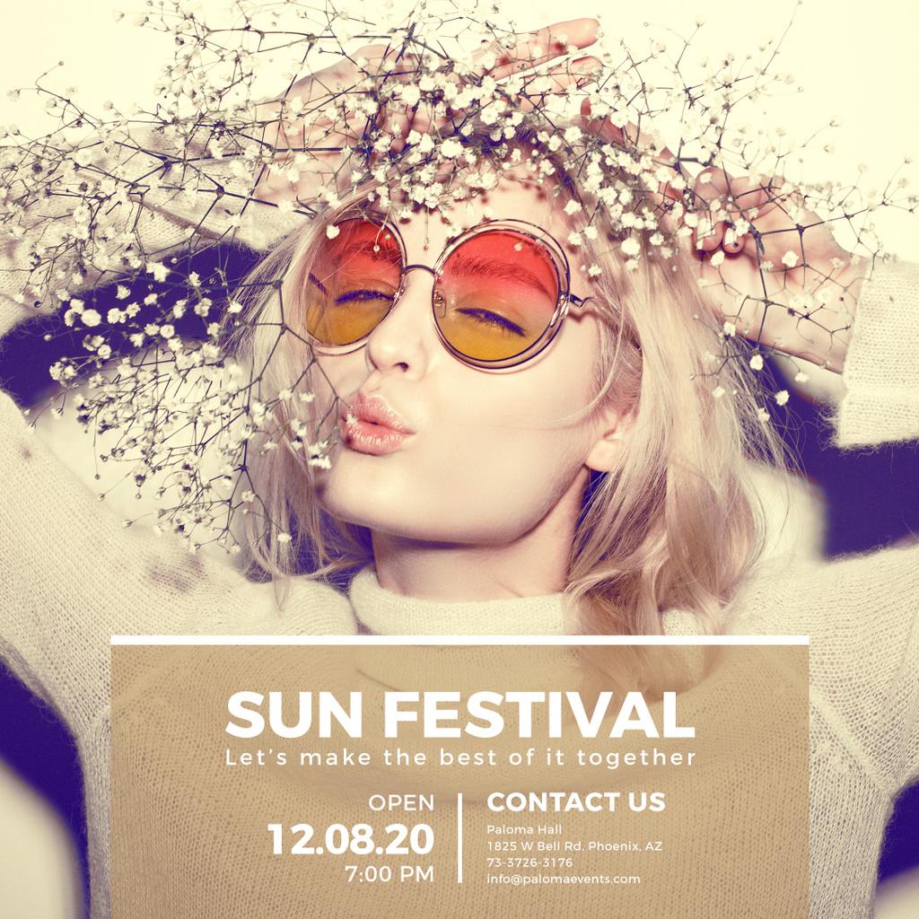 Sun festival advertisement banner — Створити дизайн