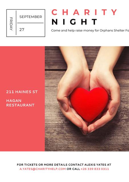 Ontwerpsjabloon van Poster van Corporate Charity Night