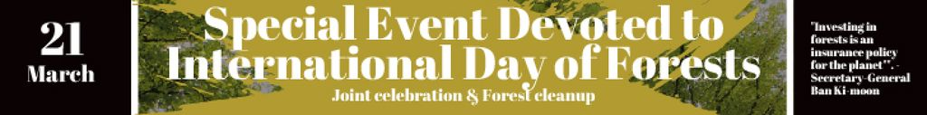 International Day of Forests Event Tall Trees — Créer un visuel