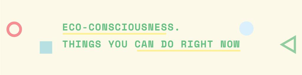 Eco-consciousness concept Twitter Modelo de Design