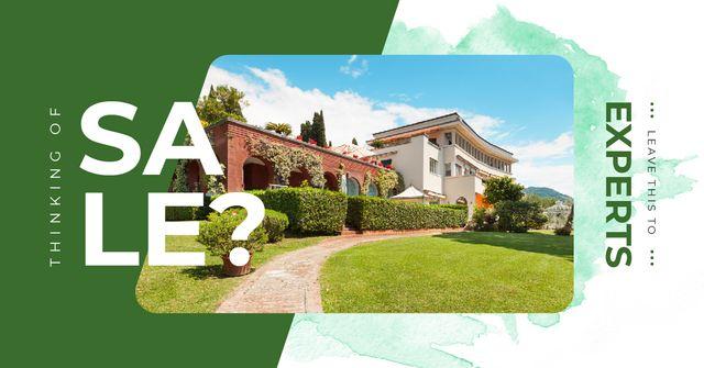Plantilla de diseño de Modern house facade for Sale Facebook AD