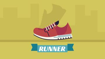 Running red sports shoe