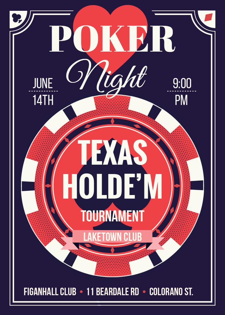 Poker night tournament night — Créer un visuel