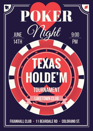 Ontwerpsjabloon van Invitation van Poker night tournament night