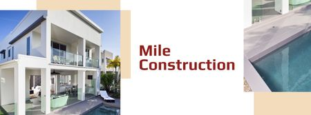 Template di design Luxury Homes Offer with modern building Facebook cover