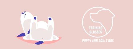 Designvorlage Funny dog sleeping für Facebook Video cover