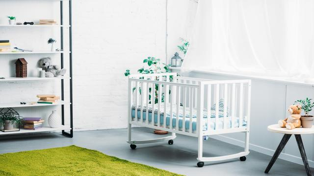 Cozy Nursery Interior Zoom Background Tasarım Şablonu