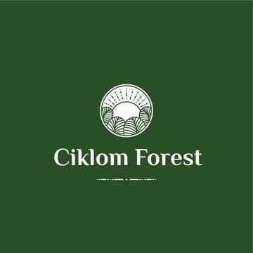 Trees in Forest Green Icon | Logo Template