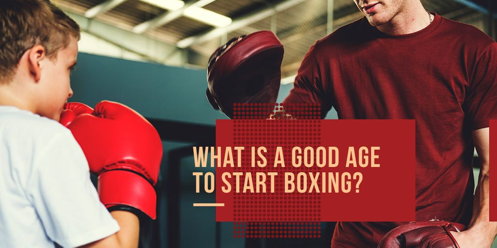 good age to start boxing poster — Создать дизайн