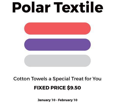 Textile towels offer colorful lines Instagram AD – шаблон для дизайну