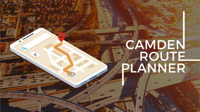 Template di design Navigation App on Phone Screen Full HD video